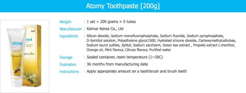 Atomy_Toothpaste